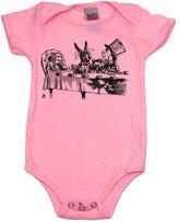 Baby Wit Alice In Wonderland Teaparty Baby Baseball Shirt, 6-12 mo, White/Black