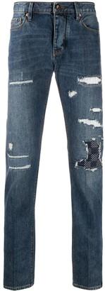 Emporio Armani Distressed Straight Jeans