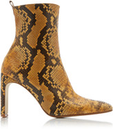 Miista Marcelle Snake-effect Leather Boots