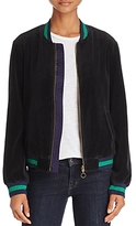Pam & Gela Reversible Velour Bomber Jacket