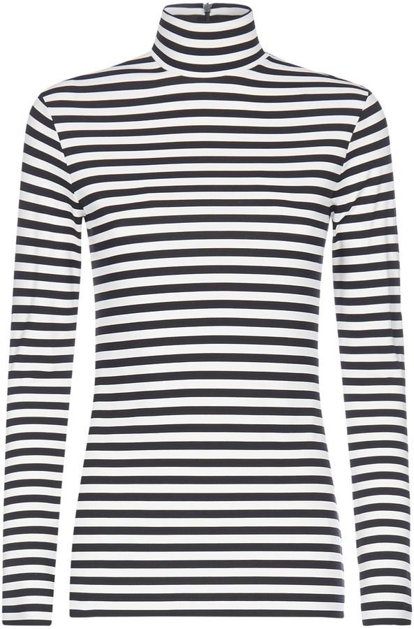 Burberry Striped Turtleneck Long-Sleeved T-Shirt