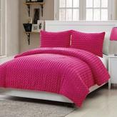 Nobrand No Brand Rose Faux Fur Comforter Set