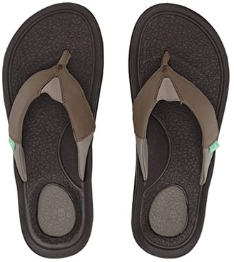 Sanuk Beer Cozy 3 (Black) Men's Sandals