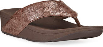 FitFlop Swoop Toe-Post Leather Thong Sandals