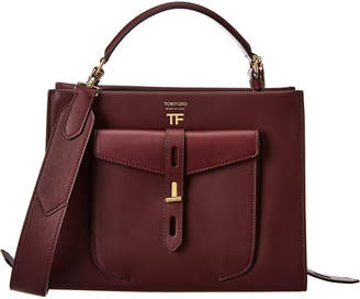 Tom Ford Hollywood T Twist Small Top Handle Leather Shoulder Bag