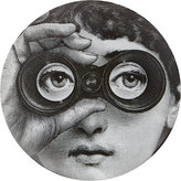 "Fornasetti Looking Through Binoculars"" Plate"