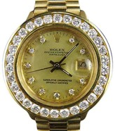 Rolex President Datejust 18K Yellow Gold 69178 3.5 Ct Diamond 26mm Watch