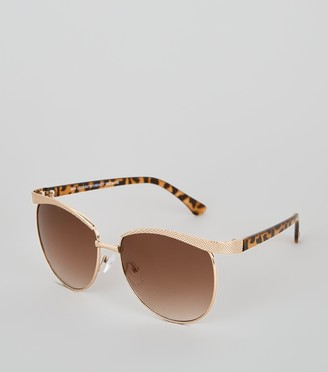 New Look Leopard Print Frame Sunglasses