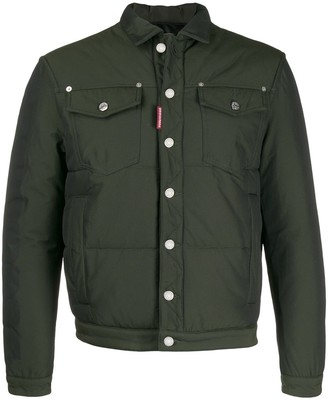 DSQUARED2 Button Down Shirt Padded Jacket