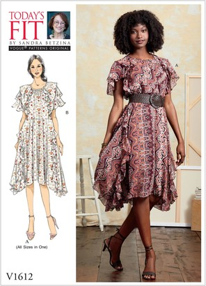 Vogue Women's Dress Sewing Pattern, 1612