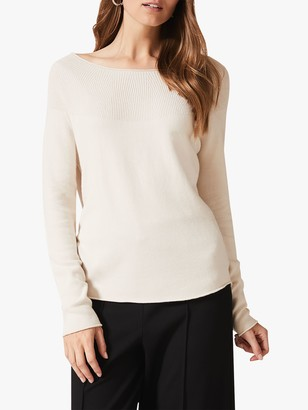 Phase Eight Yaz Yoke Detail Jumper, Ivory