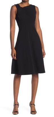 Calvin Klein Asymmetric Neck A-Line Dress