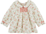 Bonpoint SMOCKED FLORAL BLOUSE