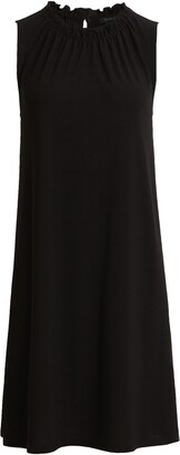 Halogen Gathered Neck Knit Dress