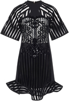David Koma Bell Sleeve Flounce Dress