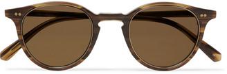 Mr. Leight Marmont S Round-Frame Tortoiseshell Acetate And Gold-Tone Titanium Sunglasses