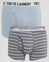 Tokyo Laundry 2 Pack Striped Trunks