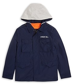 Ralph Lauren Polo Boys' Combat 3 in 1 Hooded Jacket - Big Kid