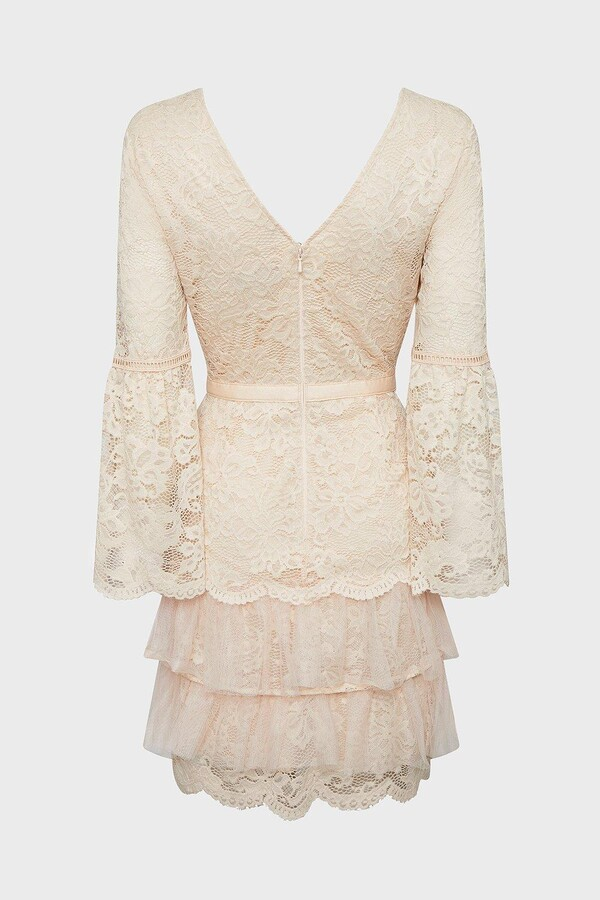 Thumbnail for your product : Coast Lace Ruffle Tulle Hem Dress