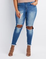 Charlotte Russe Plus Size Refuge Skinny Boyfriend Destroyed Jeans