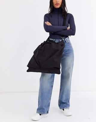Weekday Asher nylon travel bag in black