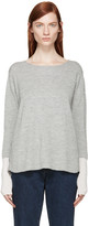 Aalto Grey & Pink Alpaca Wool Paneled Sweater