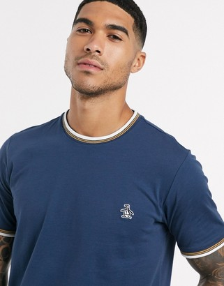 Original Penguin t-shirt with small logo in navy