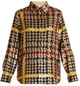 Ashish Button-down hound's-tooth sequin-embellished shirt