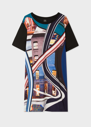 Women's Black 'Albemarle' Print Jersey Dress