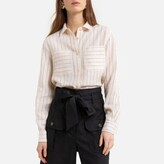 La Redoute Collections Striped Linen Shirt with Long Sleeves