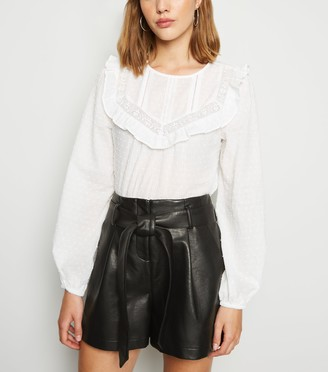 New Look Leather-Look High Waist Shorts