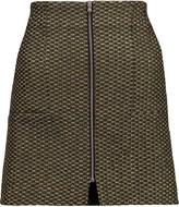 Suno Metallic jacquard mini skirt