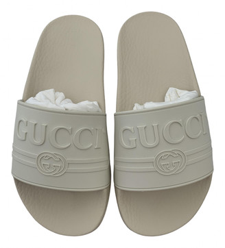 Gucci White Rubber Sandals