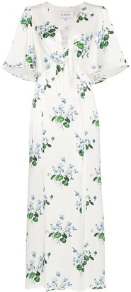 Les Rêveries Floral Print Maxi-Dress