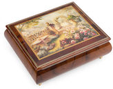 Ercolano NEW Lisa's Garden Musical Jewellery Box