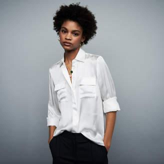 Maje Draped silk blouse