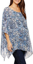 Tiana B 3/4 Sleeve Scoop Neck Woven Blouse - Maternity