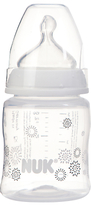 NUK First Choice+ Baby Bottle with Size 1 Silicone Teat