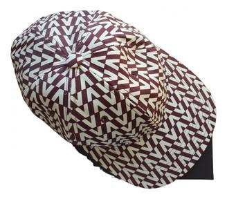 Valentino Burgundy Linen Hats & pull on hats