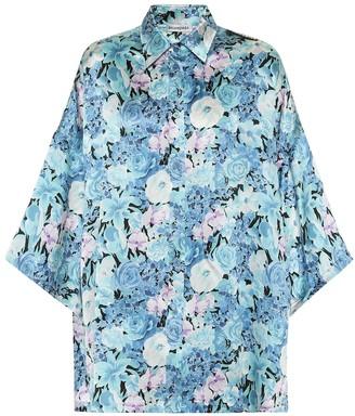 Balenciaga Vareuse floral silk shirt