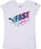 Puma Short-Sleeve Fast-n-Fab Tee - Preschool Girls 4-6x