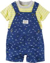 Carter's Baby Boys 2-pc. Paper Plane Shortalls Set