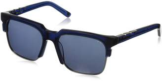 Pared Eyewear Day and Night Navy with Gunmetal Rim Wire Solid Grey Square Sunglasses