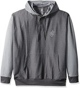 Rocawear Men's Big and Tall 3 Button Pop Over Hoodie