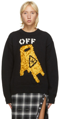 Off-White Black Pascal Wet Floor Sweater