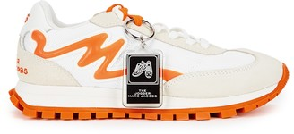 Marc Jacobs The Jogger white and orange panelled sneakers