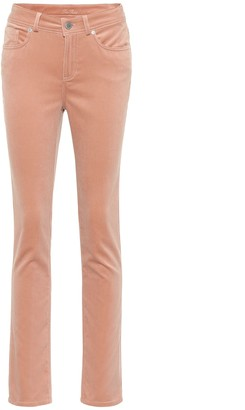 Loro Piana Mathias stretch-velvet straight pants