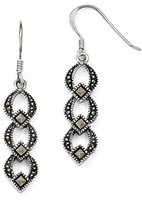 Leslies Gold and Watches Sterling Silver Marcasite Earrings