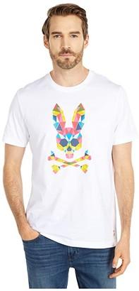 Psycho Bunny Kidd T-Shirt (White) Men's Clothing