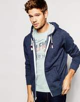 Tommy Hilfiger Zip Up Hoodie With Flag Logo